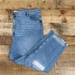 ASOS denim jeans raw hem distressed